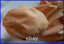 Simon O latex rubber doll suit catsuit with silicone breasts, pigtails plus gift