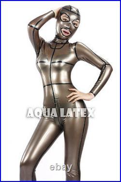 Unisex Fetish Rubber Latex Catsuit Untrammeled Full Bodysuit
