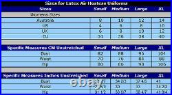 XL 100% Latex Rubber Air Hostess Uniform Second Skin Catsuit Style Rubber