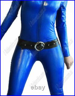 XL100% Latex Rubber BLUE Catsuit Second Skin Top Quality HOT Body Suit